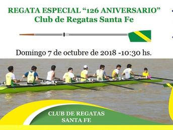 "Regata Especial ""126º Aniversario"" del Club de Regatas Santa Fe"