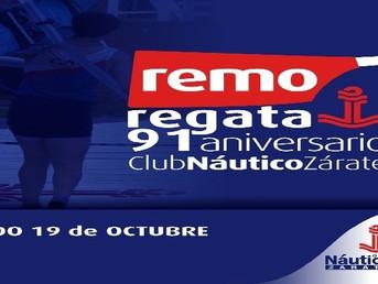 """Programa de la Regata Especial """"91º Aniversario"""" del Club Náutico Zárate"""