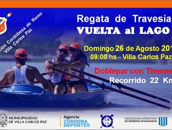 """Regata de Travesía """"Vuelta al Lago"""" de la Asociación Cordobesa de Remo"""