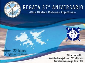 """Orden de largada de la Regata de Travesía """"37º Aniversario"""" del Club Náutico Malvinas Argentinas"""