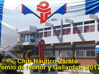 """El Club Náutico Zárate conquistó la """"Triple Corona"""" 2017"""