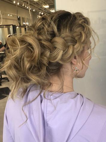 soft romatntice bridal updo style