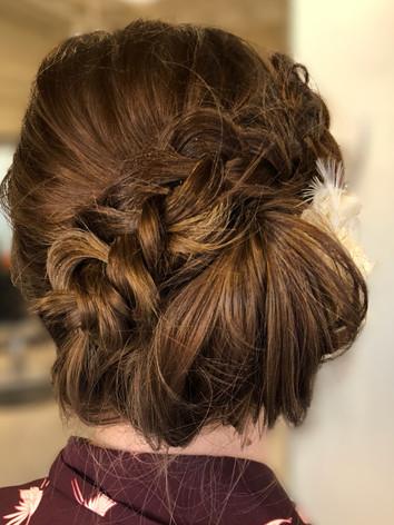 bridal bun and braid