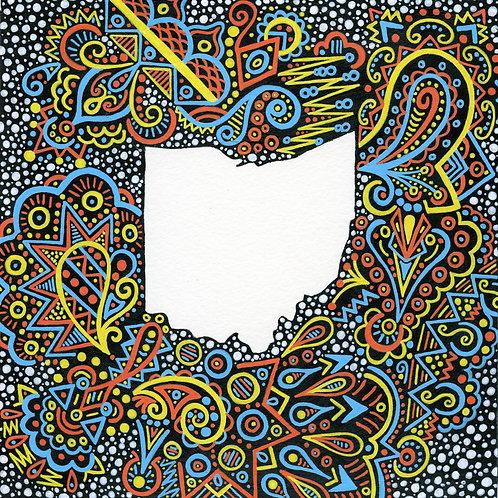 Blue, Yellow, & Orange Ohio