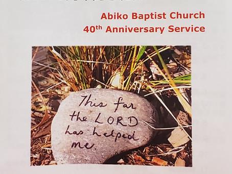 40th Anniversary Service