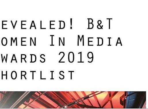 We made it on the B&T Women in Media Shortlist 2019!