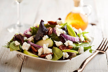 Apple and Goat Cheese Salad with Cadied