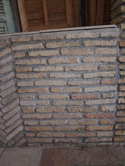Pose décorative de brique