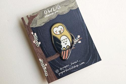 Owl Enamel Pin