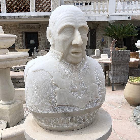 Buste Général de Gaulle en marbre