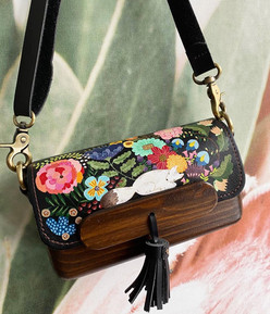 Illustrated leather bag