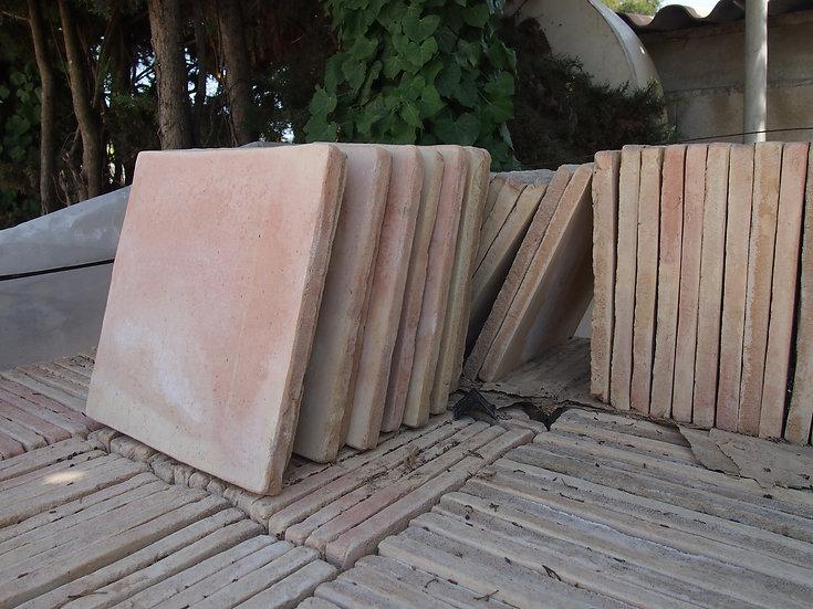 Carreau terre cuite neuve fait main 30x30