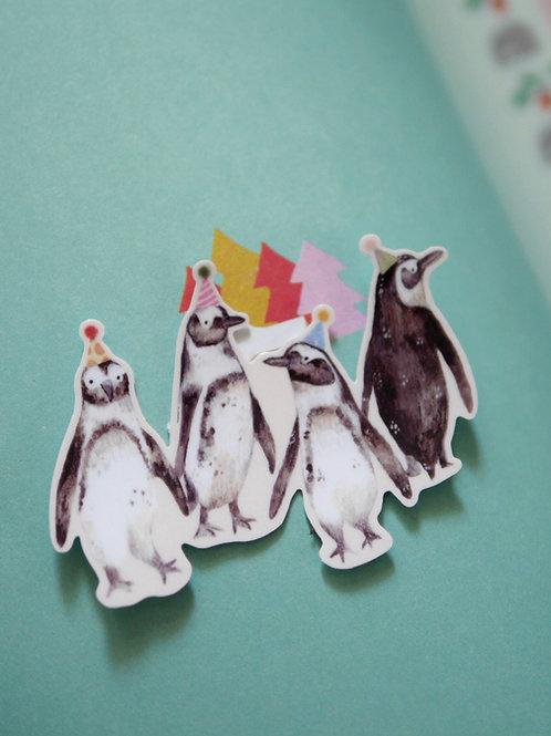 Party Penguins Vinyl Sticker
