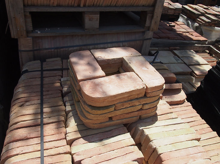 Brique quart de Rond ornement 22x12x3cm