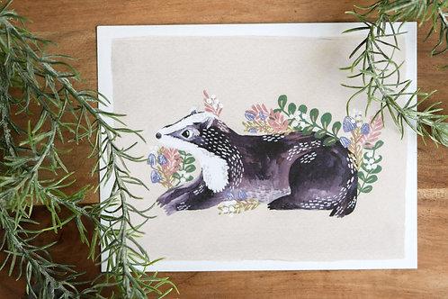 Woodland Badger