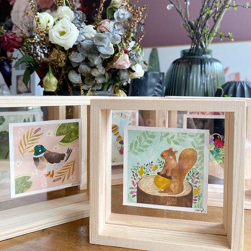 Framed mini paintings