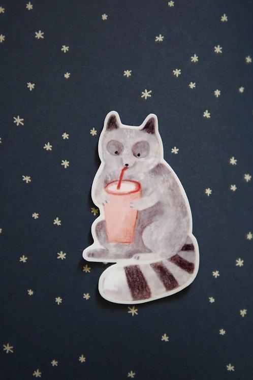 Juice Raccoon Vinyl Sticker