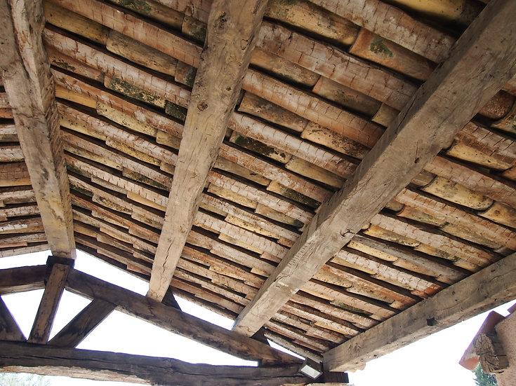 Exemple de toiture en vieille tuile