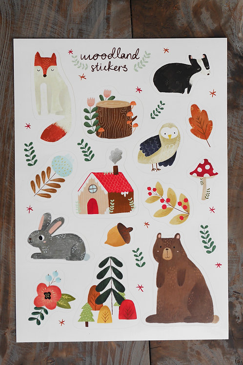 Woodland Sticker Sheet