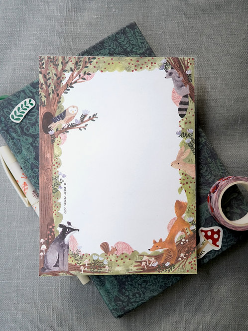 Woodland Animals Notepad