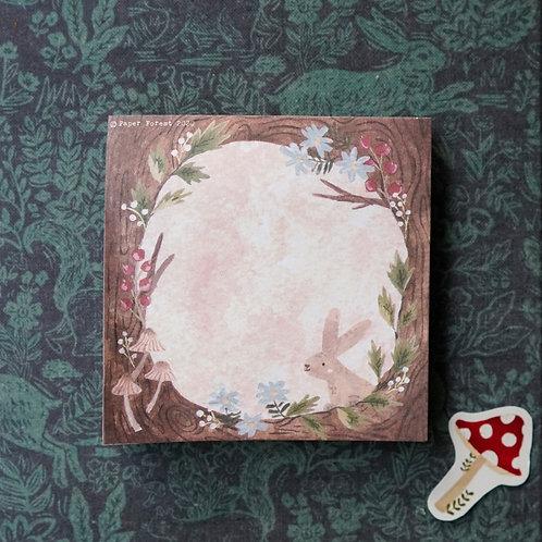 Rabbit Home Sticky Notepad