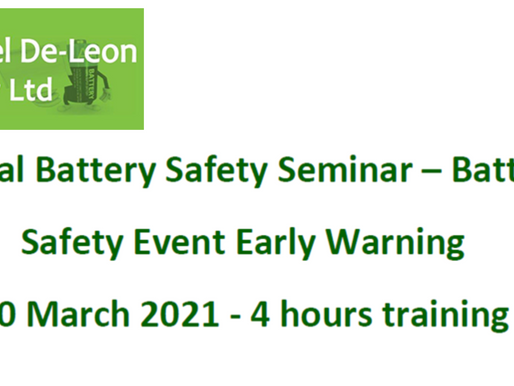 ALGOLiON will present its early warning battery safety hazard detection and prevention software