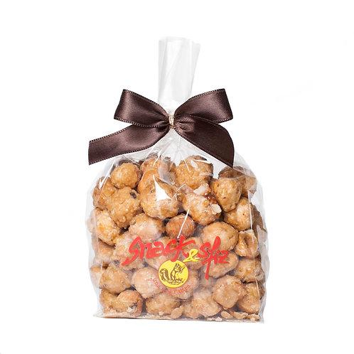 Paahdetut ja sokeroidut hasselpähkinät