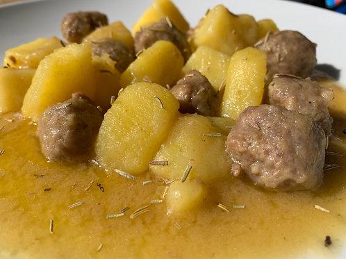 Italialainen raakamakkara-perunapata
