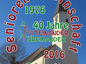 Einladung zum 40-jahigen Jubiläum am 13.10.2016