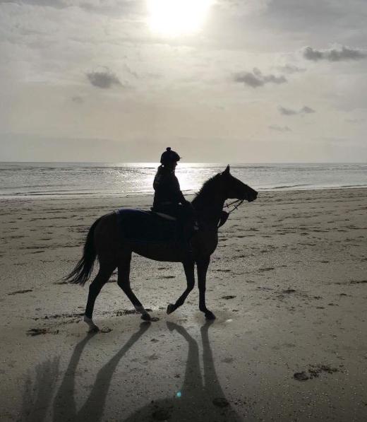 Sun rise on our local beach