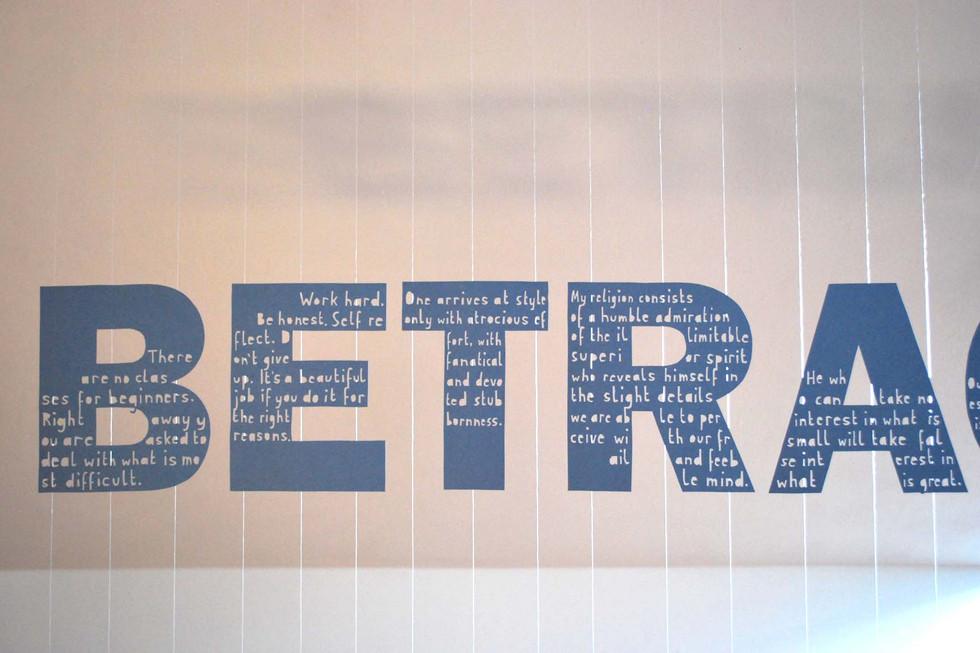 Elvira Bernhardt | Schrift im Raum 4