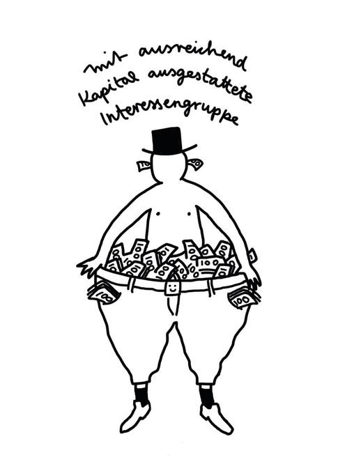 Elvira Bernhardt | Karikatur Investor_in