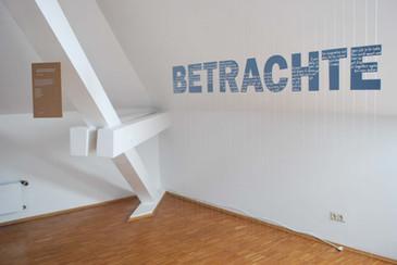 Elvira Bernhardt | Schrift im Raum 1