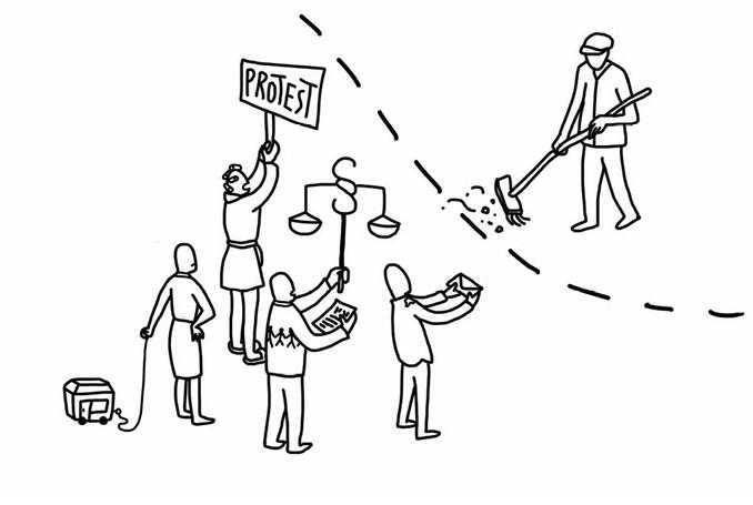 Elvira Bernhardt | Infografik Protest
