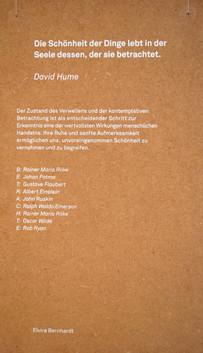 Elvira Bernhardt | Schrift im Raum Infotafel