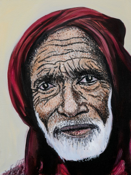 Muslim Man with a Red Shawl
