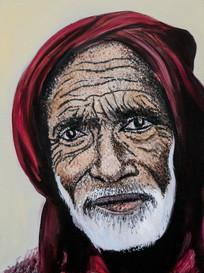 Muslim Man with a Red Shawl