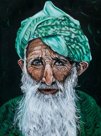 Old man from Kashmir