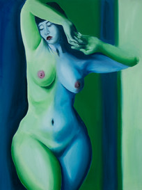 Woman in Green and Blue