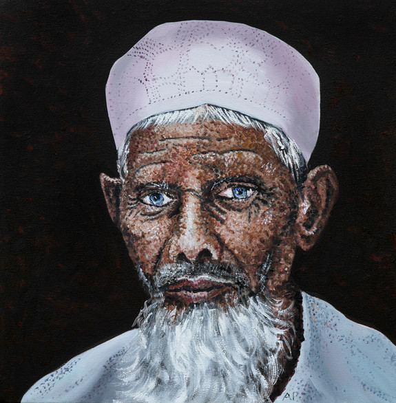 Muslim Man with a White Cap