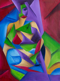 woman color block