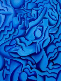 The Lovers in Blue