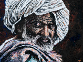 Old Man in a White Tuban