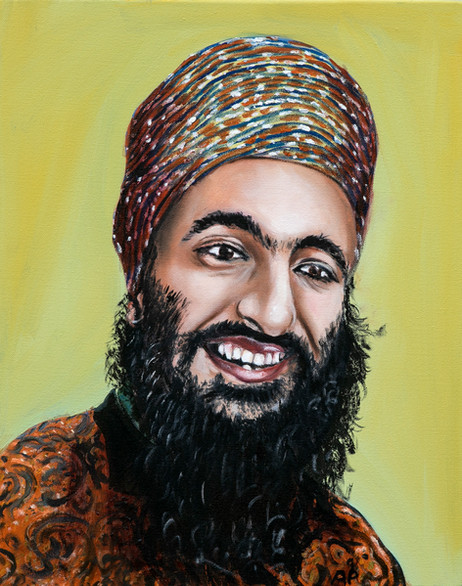 Sikh in a Colorful Turban