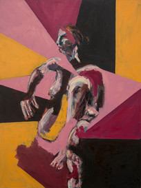 Woman Sitting in Pink