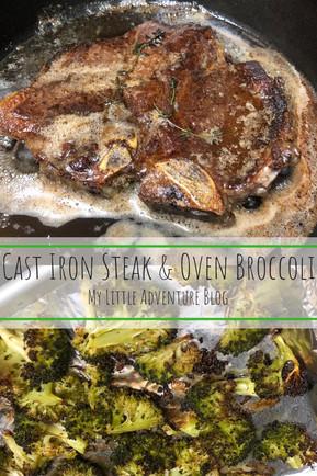 Cast-Iron Steak & Oven Broccoli