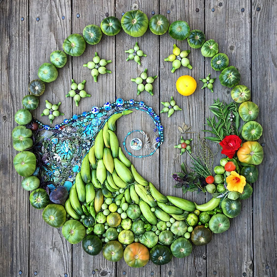 Beautiful wave food art created by Carmel Bella Farm