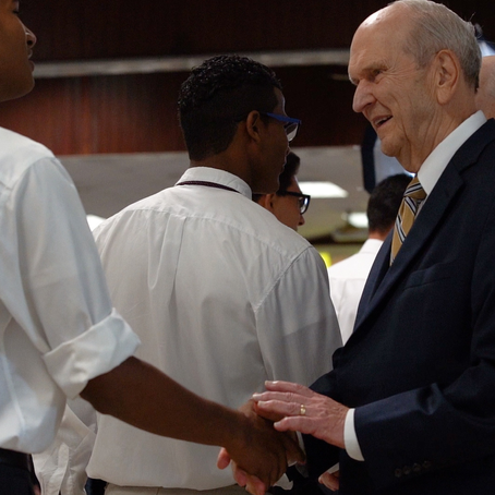 An unmistakable impression: What led President Nelson to visit with missionaries in the DR