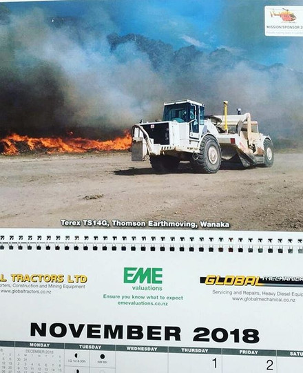 We feature in a calendar for next year!