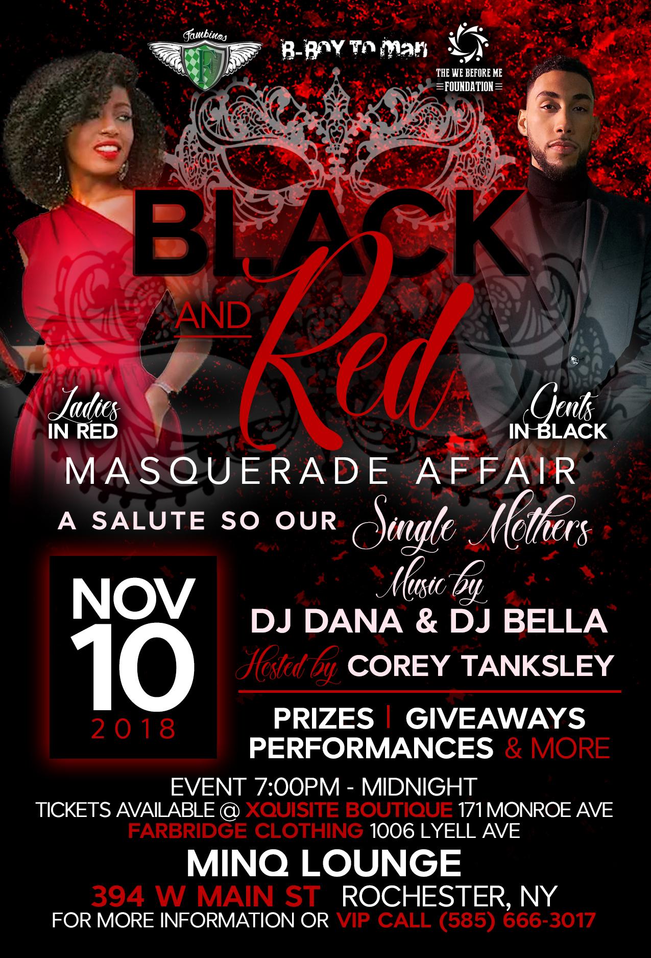 Black & Red Masquerade Affair